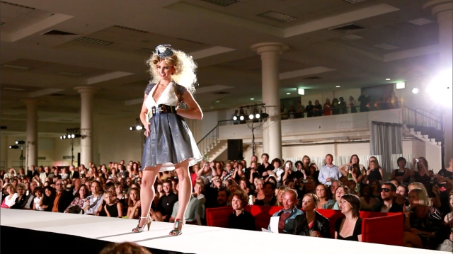 Our model, Sonya Poland from NBBJ, on the runway