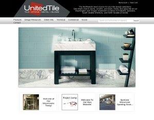 United Tile's Website Homepage
