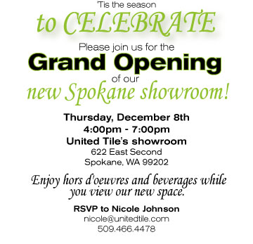 Showroom inauguration invitation southernsoulblog spokane grand opening december 8th united tile s blog stopboris Choice Image